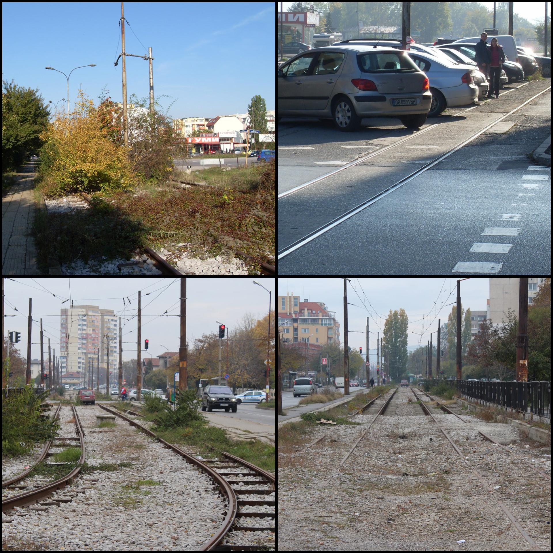 Изоставени трамвайни трасета в София