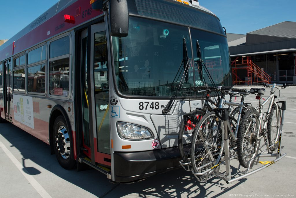 New High Capacity Bike Racks on Hybrid Coach 8748 | February 20, 2015