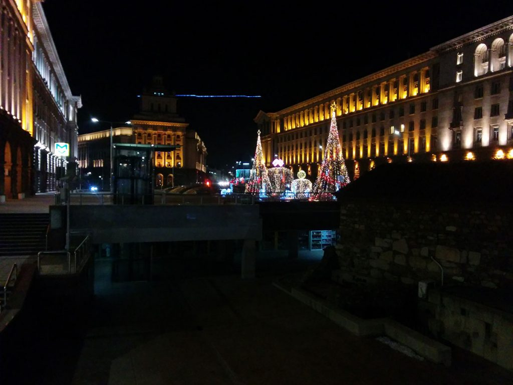 Коледните светлини пред Министерски съвет