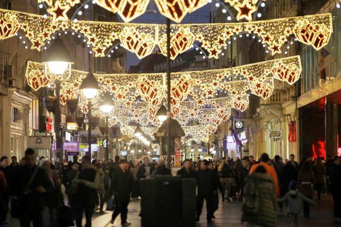 Коледните светлини в Белград