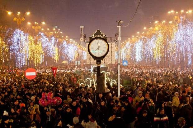 Коледните светлини в Букурещ
