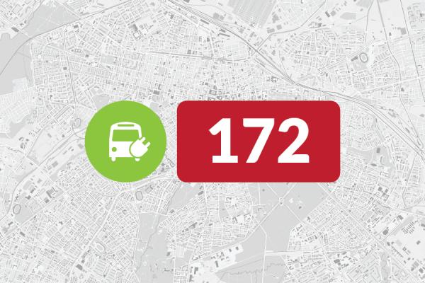 Нова линия 172, обслужвана с електробуси