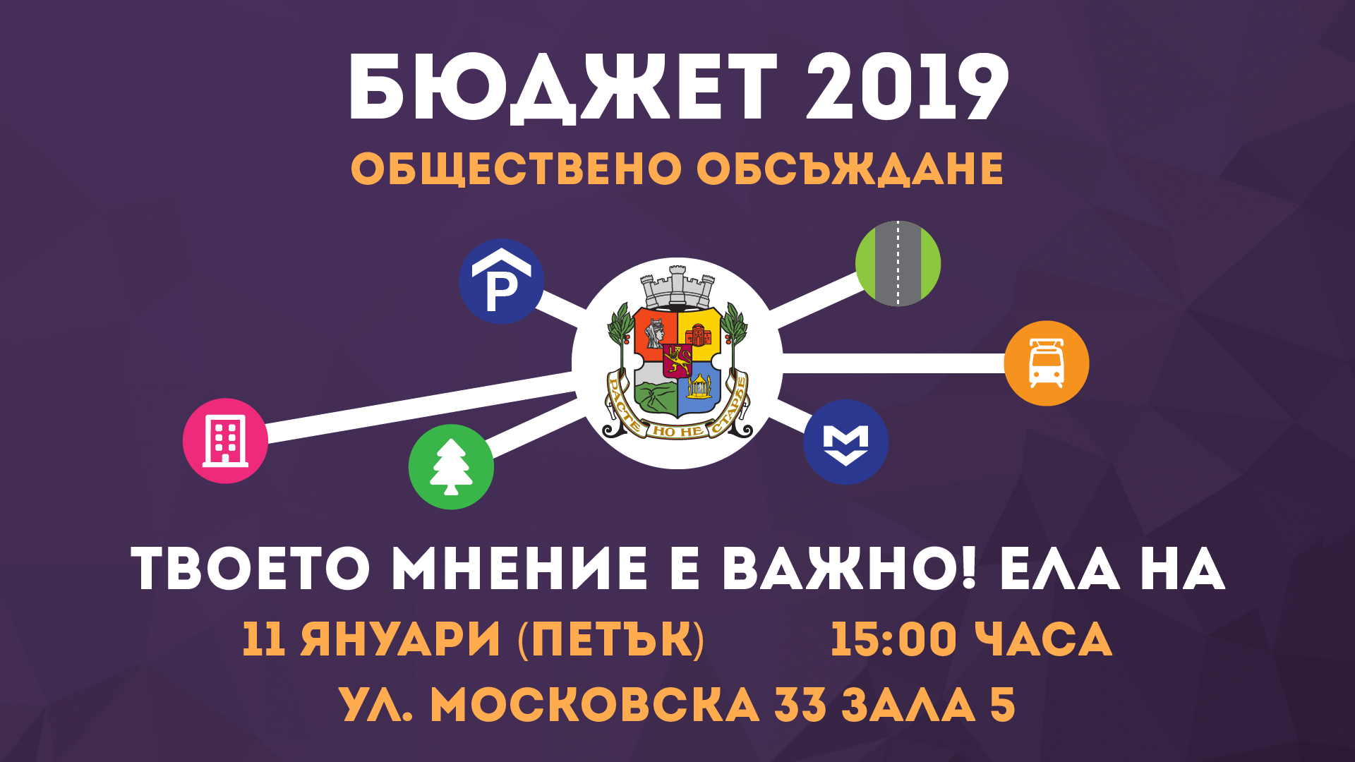 Становище относно проект за Бюджет 2019 г. на Столичната община