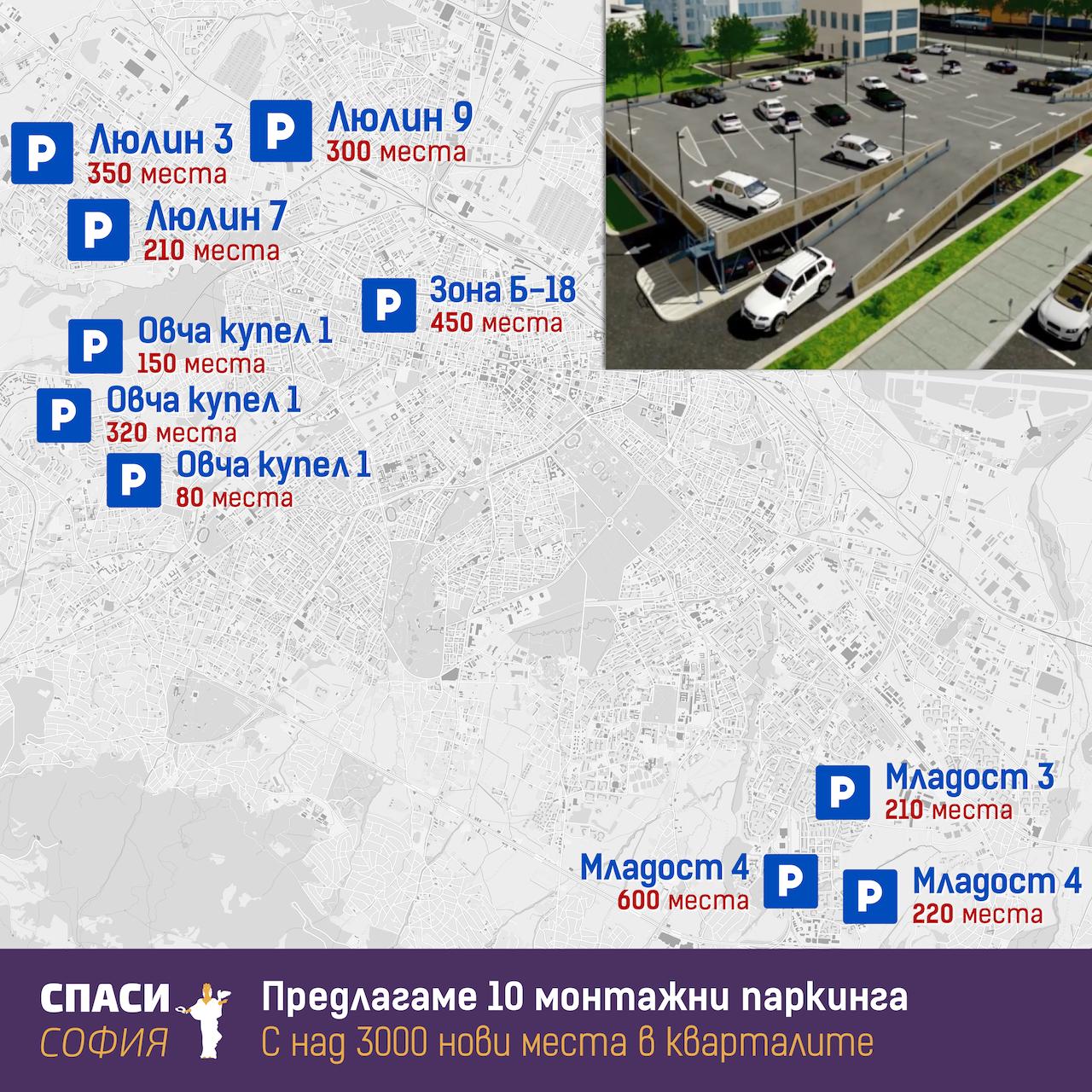 ДОКЛАД – Изготвяне на проекти за изграждане на монтажни паркинги в кварталите