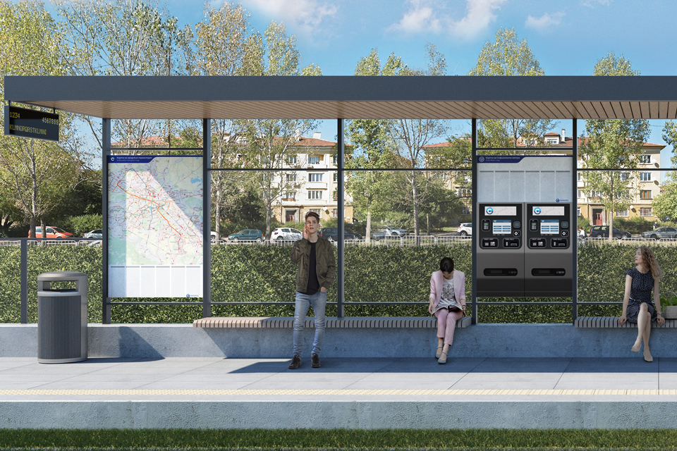 Предлагаме удобни и модерни спирки по трамвайното трасе на бул. Цар Борис III